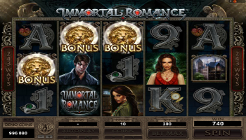 Immortal Romance Slot Free Spins Bonus